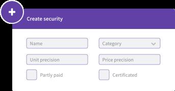 Create securities