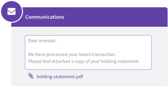 Email to investor