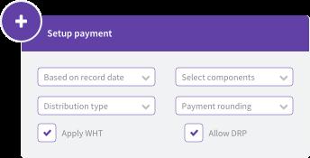 Payment setup