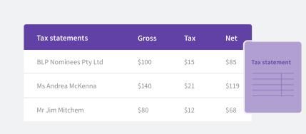 Tax statements
