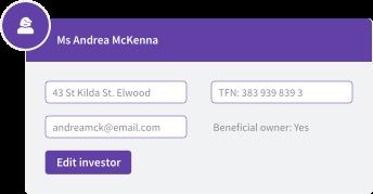 Edit investor details