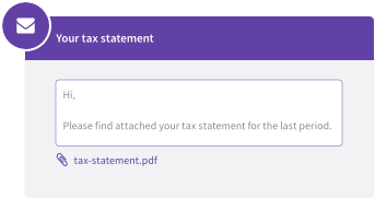 Email tax statements