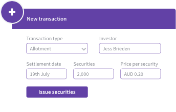 Transaction options